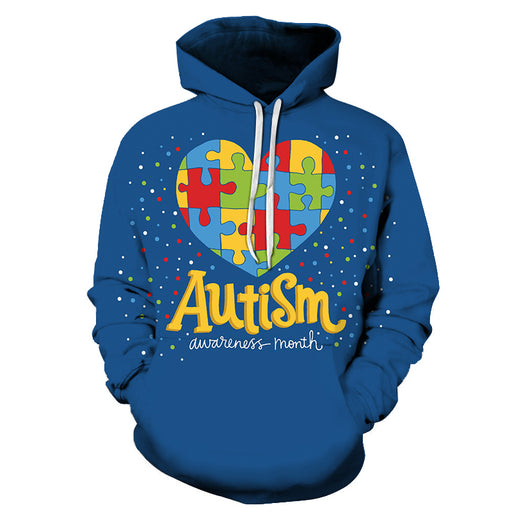 Celebrate Autism Awareness Month 3D - Sweatshirt, Hoodie, Pullover - Support Autism Awareness Movement