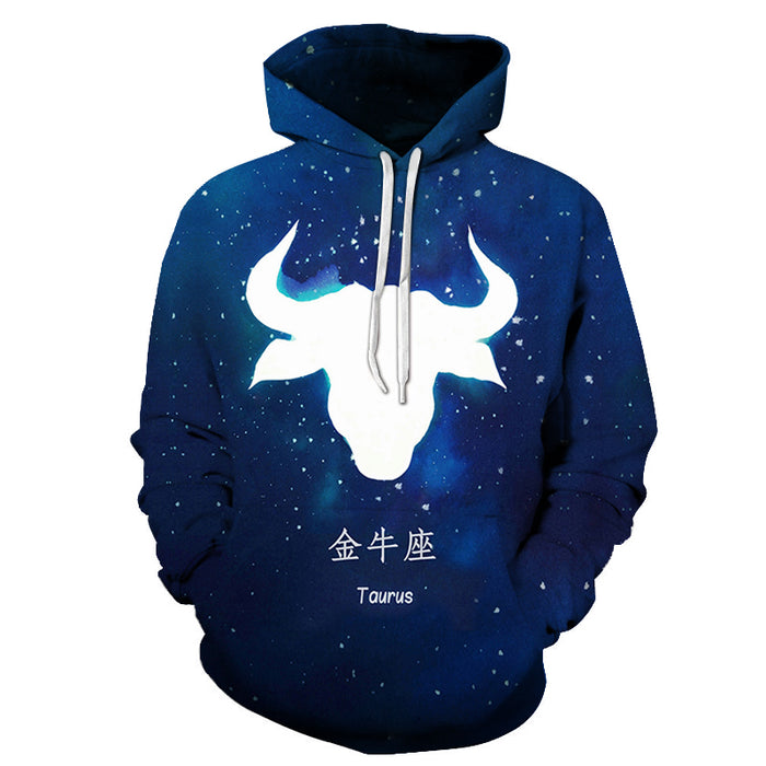 The Blue Taurus- April 21 to May 21 3D Sweatshirt Hoodie Pullover