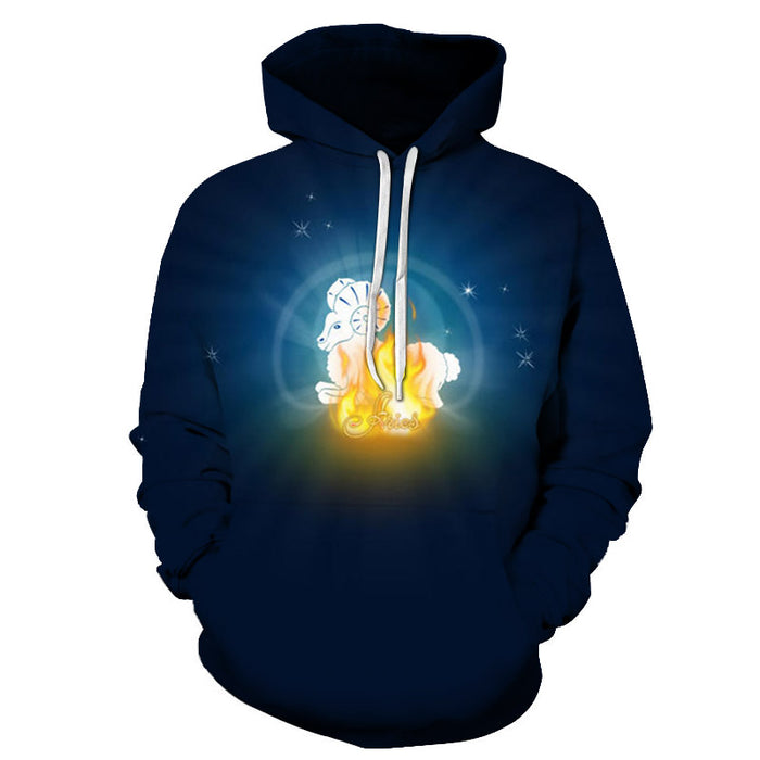 The Bright Aries - March 21 to April 20 3D Sweatshirt Hoodie Pullover.