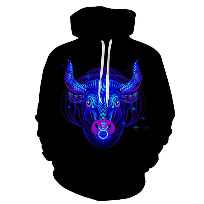 The Blue Vibrant Aries- March 21 to April 20 3D Sweatshirt Hoodie Pullover