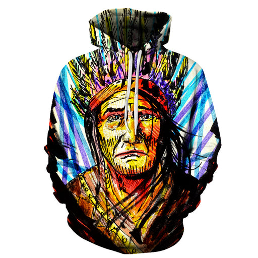 The Colored Face Painting 3D - Sweatshirt, Hoodie, Pullover