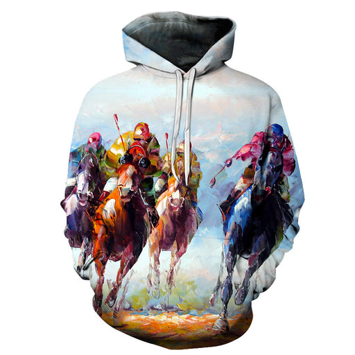 Derby Oil Painting 3D - Sweatshirt, Hoodie, Pullover