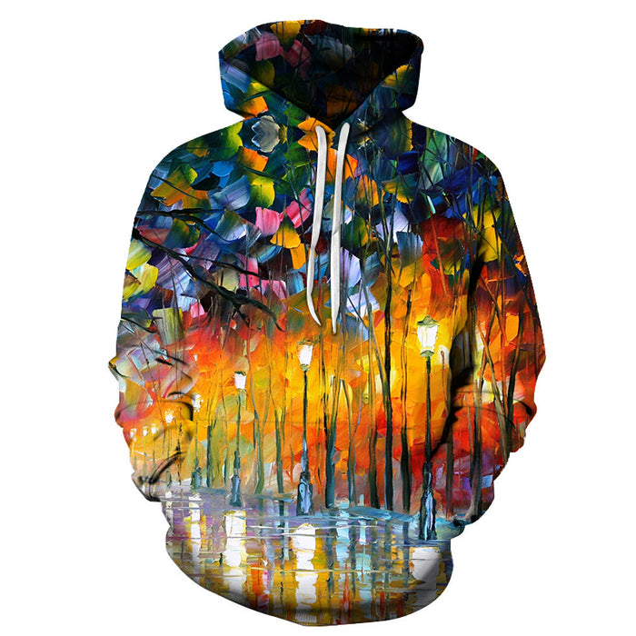 Scenic Forest Oil Painting 3D - Sweatshirt, Hoodie, Pullover