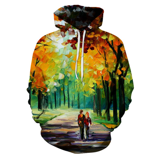 Couple in the forest Oil Painting 3D - Sweatshirt, Hoodie, Pullover
