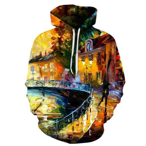 The Bridge Oil Painting 3D - Sweatshirt, Hoodie, Pullover