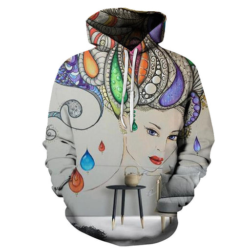 Vibrant Wall Art Oil Painting 3D - Sweatshirt, Hoodie, Pullover