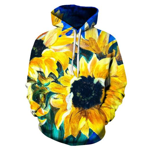 The Sunflowers Oil Painting 3D - Sweatshirt, Hoodie, Pullover