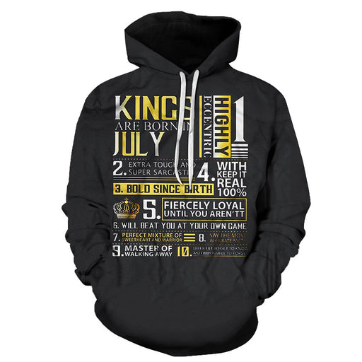 Guys Born in July Personality 3D - Sweatshirt, Hoodie, Pullover