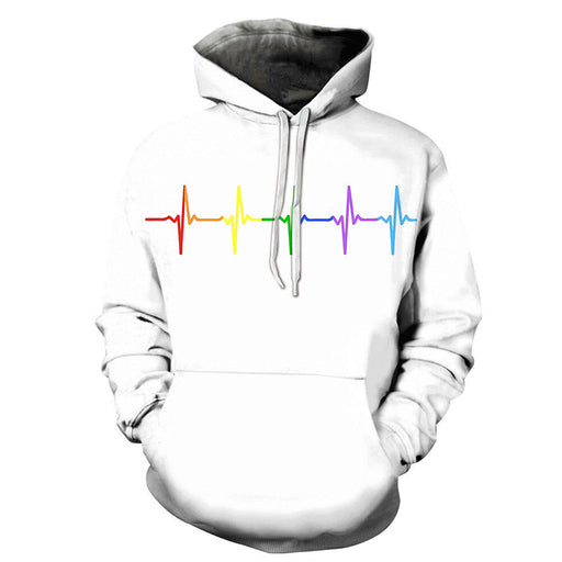 The Rainbow Heart Beat 3D - Sweatshirt, Hoodie, Pullover