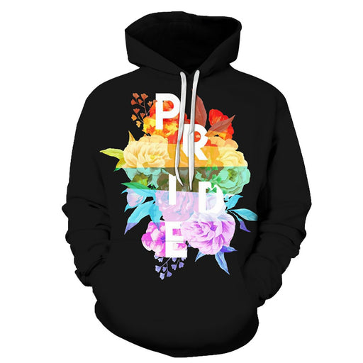 The Floral Pride Colors 3D - Sweatshirt, Hoodie, Pullover