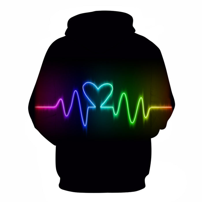 The Pride Pulse 3D - Sweatshirt, Hoodie, Pullover