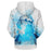 Blue Bubbles Dolphin 3D Sweatshirt Hoodie Pullover