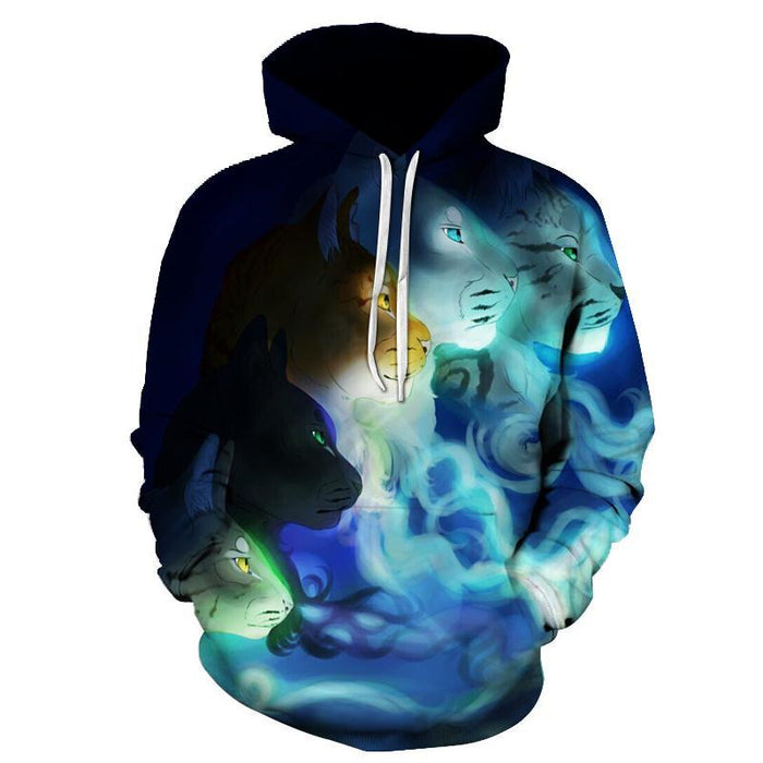Cat Transformation 3D Sweatshirt Hoodie Pullover
