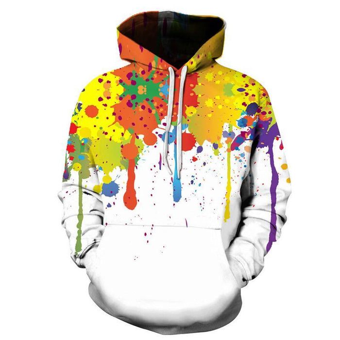 Watercolor Ink 3D Sweatshirt, Hoodie, Pullover