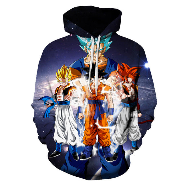 Dragon Ball Z Characters 3D Sweatshirt Hoodie Pullover