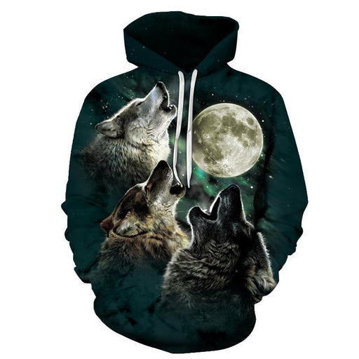 Three Wolf Moon 3D Sweatshirt Hoodie Pullover