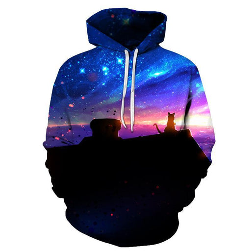 Space Cat 3D Sweatshirt Hoodie Pullover
