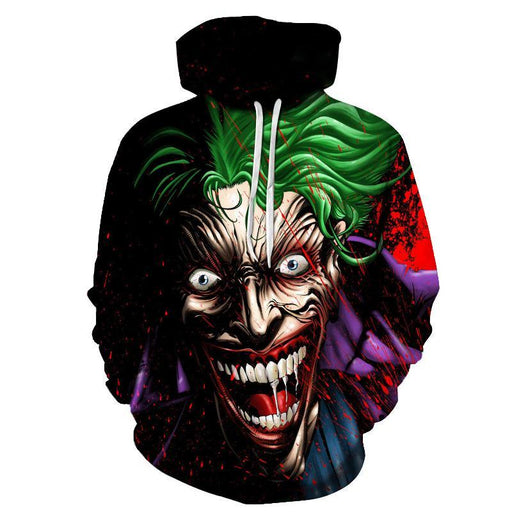 Batman Mad Joker Sweatshirt Hoodie Pullover