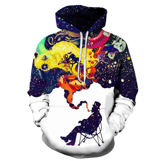 Colorful Smoke 3D Sweatshirt Hoodie Pullover