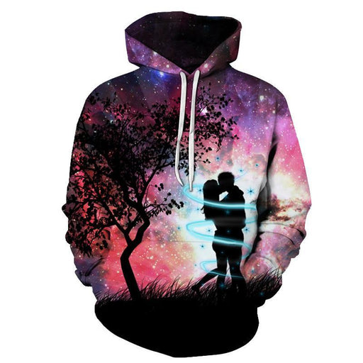Galaxy Tree Lovers 3D Sweatshirt Hoodie Pullover