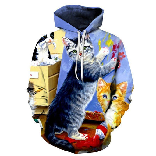 House Cats 3D Sweatshirt Hoodie Pullover