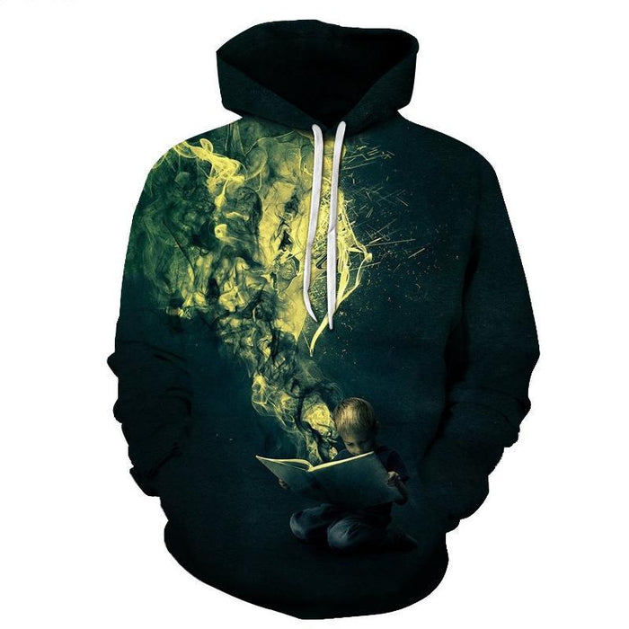 Green Smoke Imagination 3D Sweatshirt Hoodie Pullover