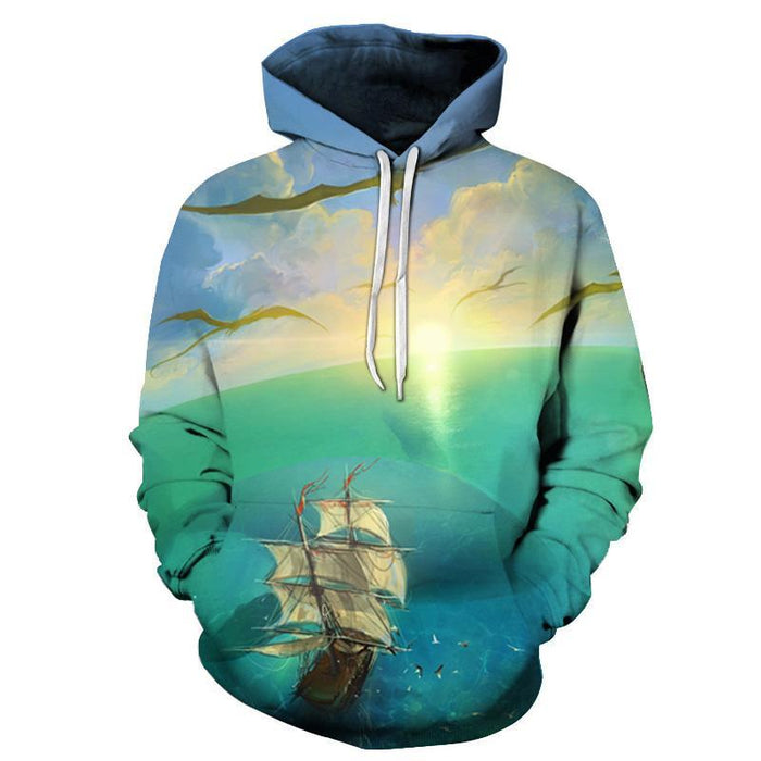 Pirates Ship  3D Sweatshirt Hoodie Pullover