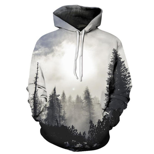 Forest Trees 3D Sweatshirt Hoodie Pullover