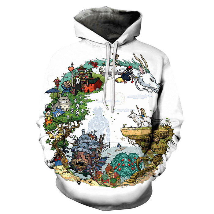 Spirited Away Anime 3D Sweatshirt, Hoodie, Pullover