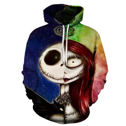 Nightmare Before Christmas Jack and Sally 3D Sweatshirt Hoodie Pullover
