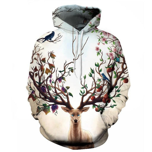 Animals In Seasons 3D Hoodie Sweatshirt Pullover
