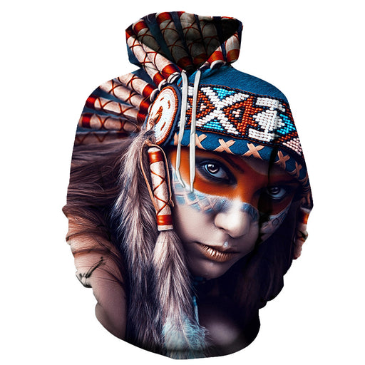 Native American Indian 3D Sweatshirt Hoodie Pullover