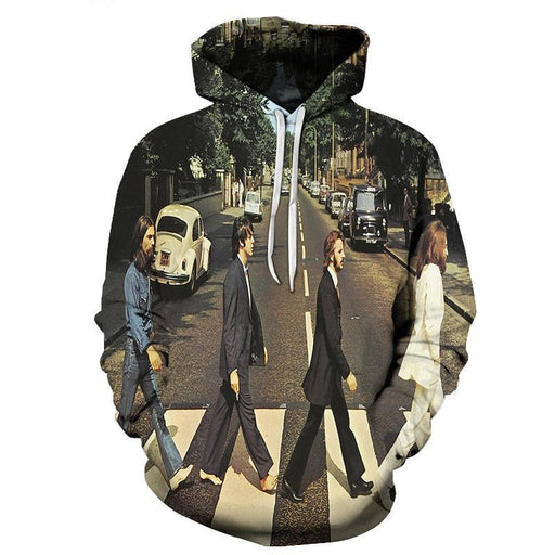 Beatles Abbey Road 3D Sweatshirt, Hoodie, Pullover