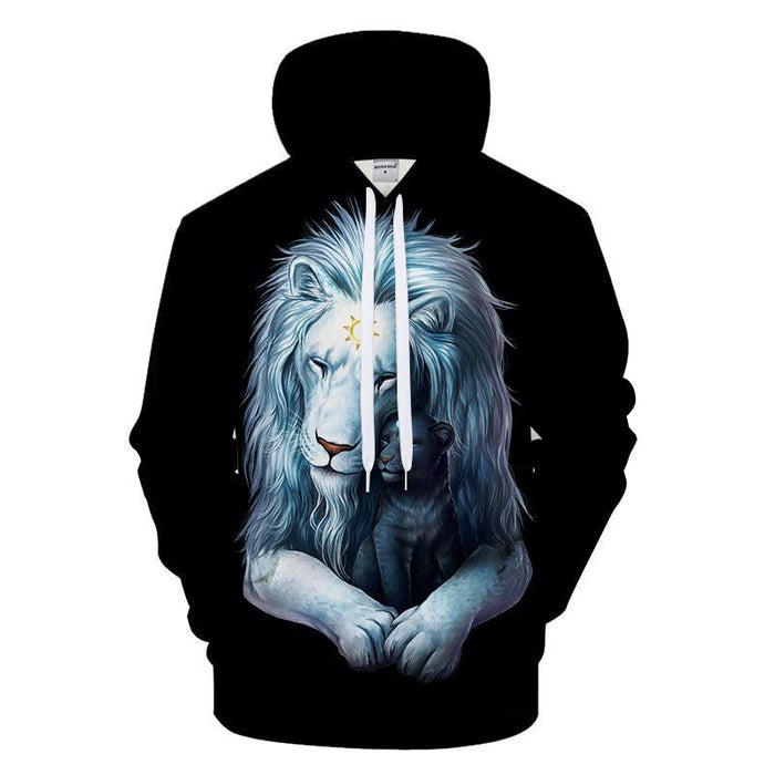 Child of Light Black Lion 3D Sweatshirt Hoodie Pullover