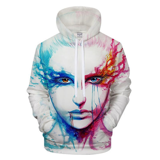 Bipolar Blue and Pink 3D Sweatshirt, Hoodie, Pullover