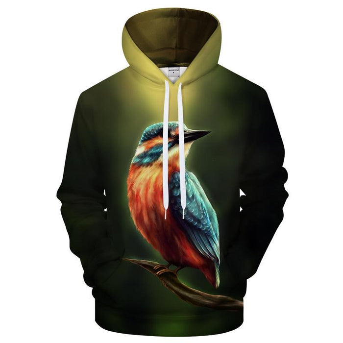 Kingfisher In The Dark 3D Sweatshirt, Hoodie, Pullover