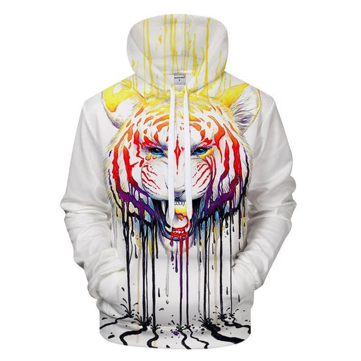 Dripping Paint Lion 3D Sweatshirt, Hoodie, Pullover