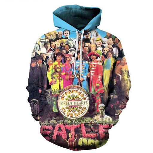 The Beatles Sgt. Pepper's Lonely Hearts Club 3D Sweatshirt Hoodie Pullover