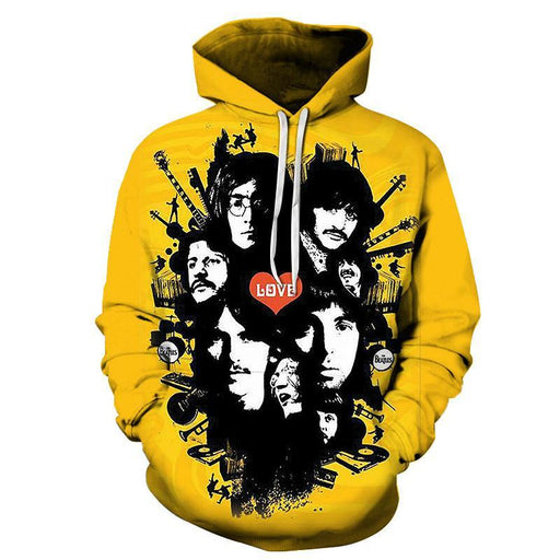 The Beatles Love 3D Sweatshirt Hoodie Pullover