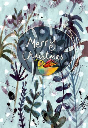 A6 Card Christmas-Bird