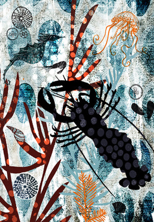 Tea Towel Lobster 2