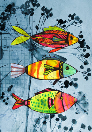 Gift Wrap Trio Fish