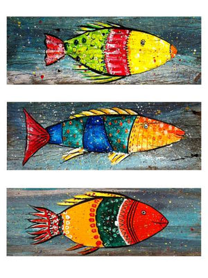 Wooden Art - Fish set of three