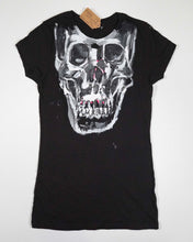 Load image into Gallery viewer, Hand-Painted Skull Tshirt