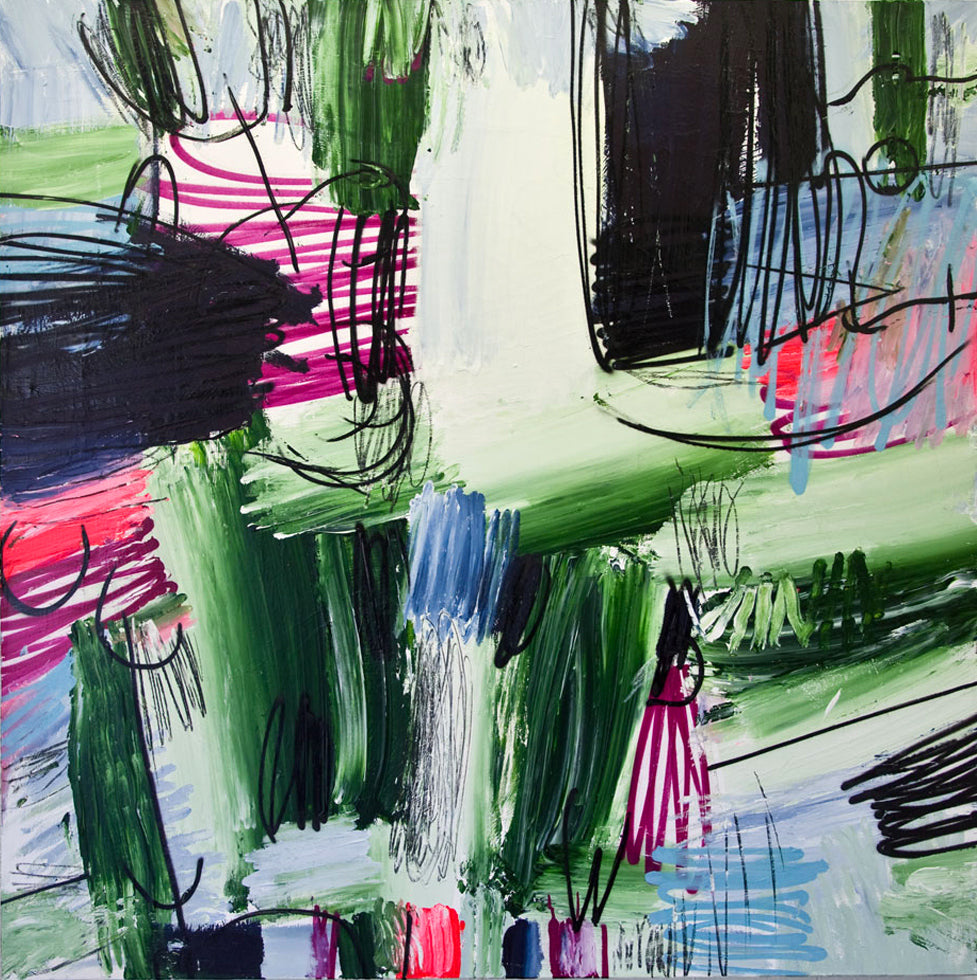 006 - Untitled Green With Magenta, 2011