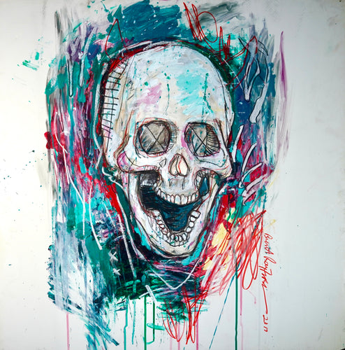 15 - Skull with Red and Green