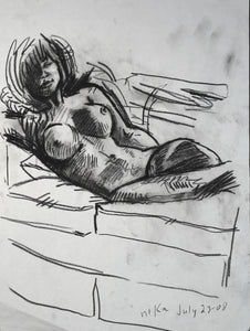 154 - Reclined on Couch, 2008