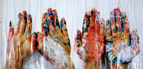 18 - My Painted Hands (Self Portrait), 2014