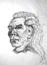 Load image into Gallery viewer, 245 - Power Drill Portrait Drawing, 1999