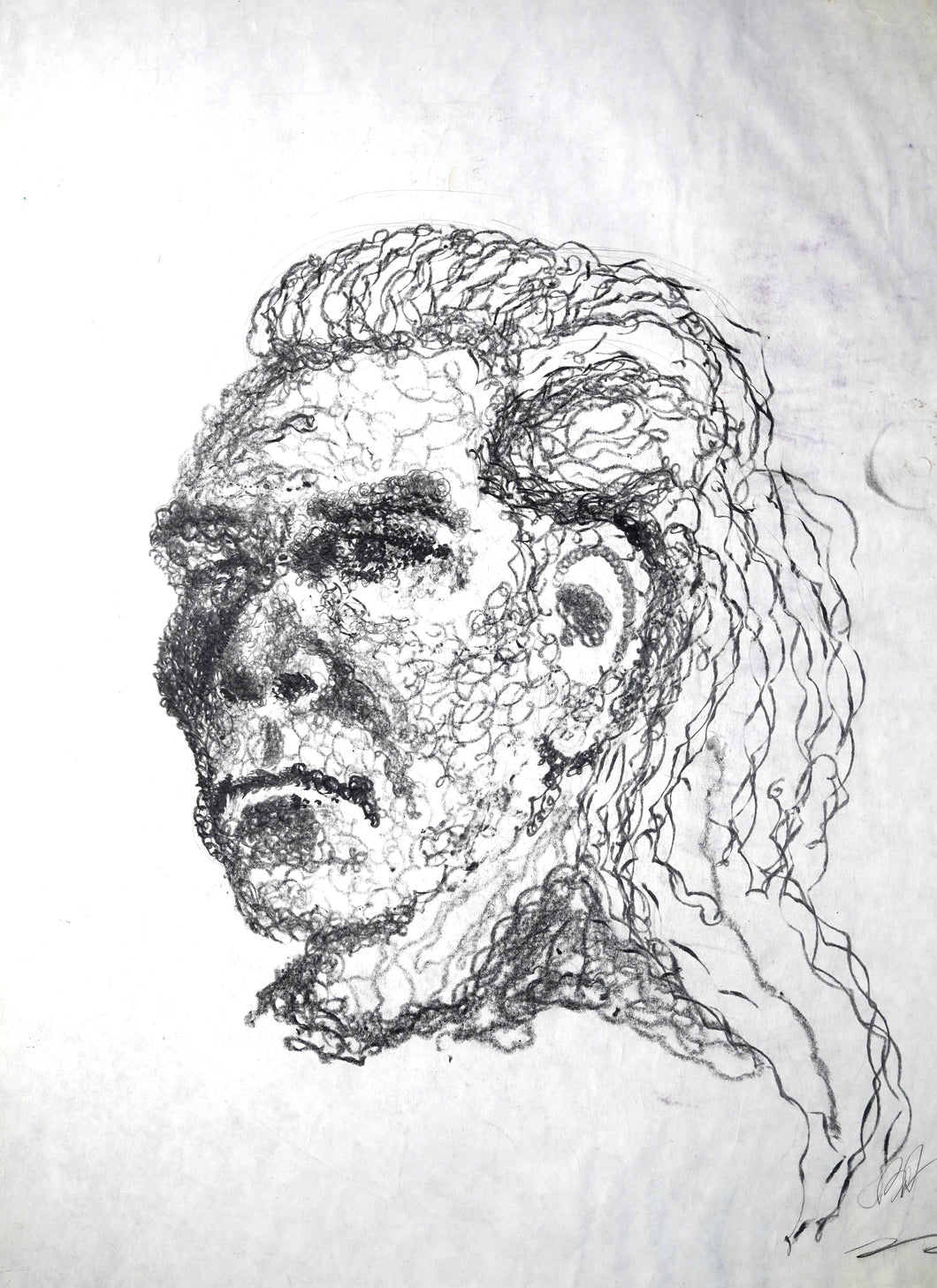 245 - Power Drill Portrait Drawing, 1999